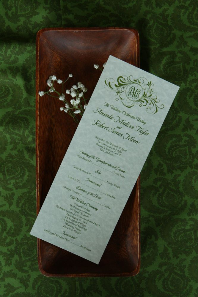 Wedding Program (Amanda)