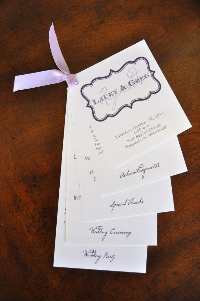 Wedding Program Amy