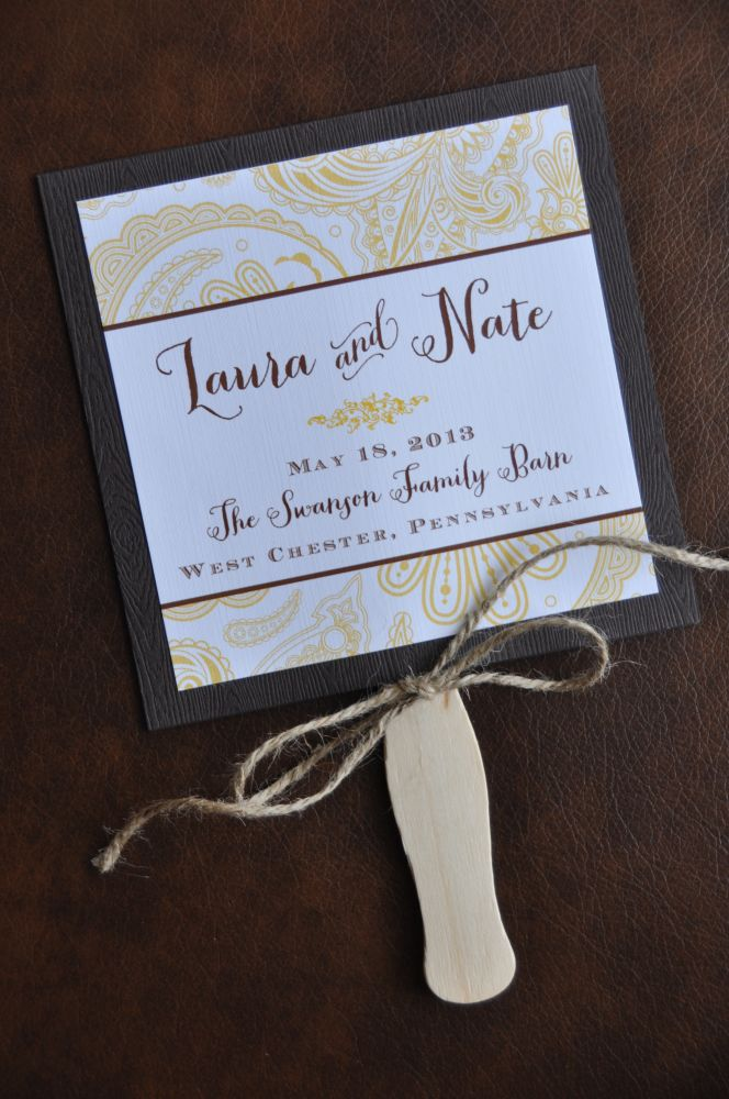 Fan Wedding Programs (Kohen)