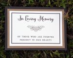 Memorial or Dedication Table Card (Double Mounted)