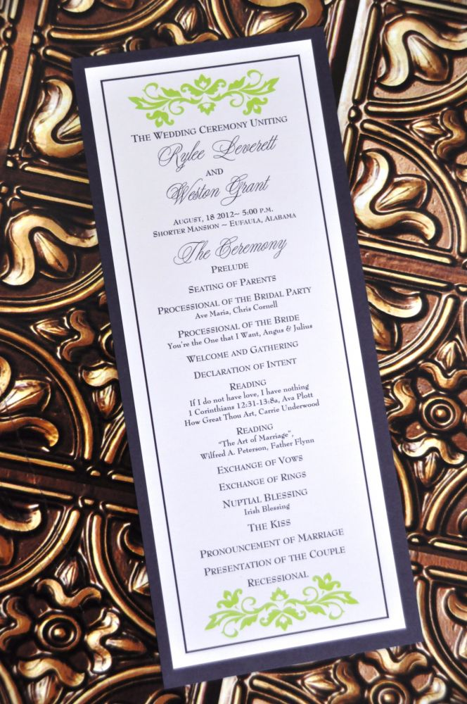 Chloe Wedding Program
