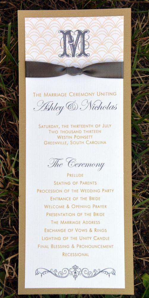 Cortnee Wedding Program