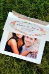 Square Save the Dates with Photo and Ribbon