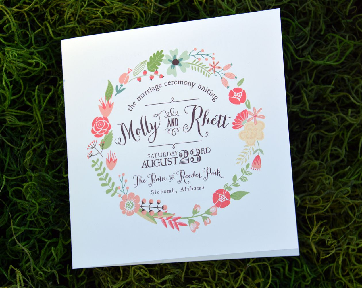 Wedding Program (Beverly)