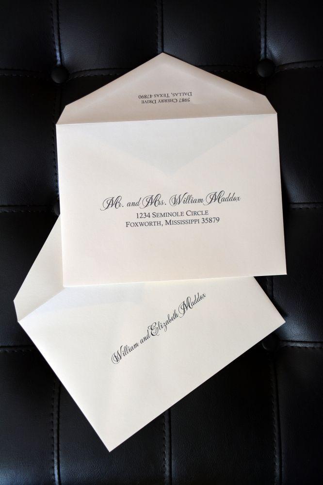 Envelope Addressing Double Envelopes Wiregrass Weddings