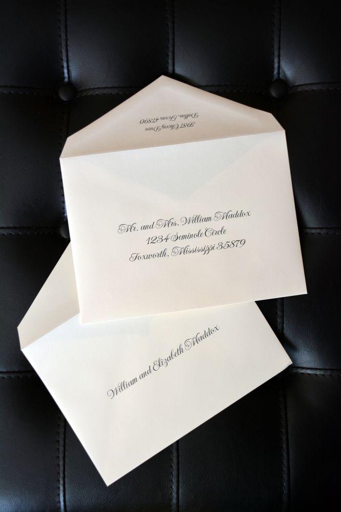 envelope addressing - double envelopes