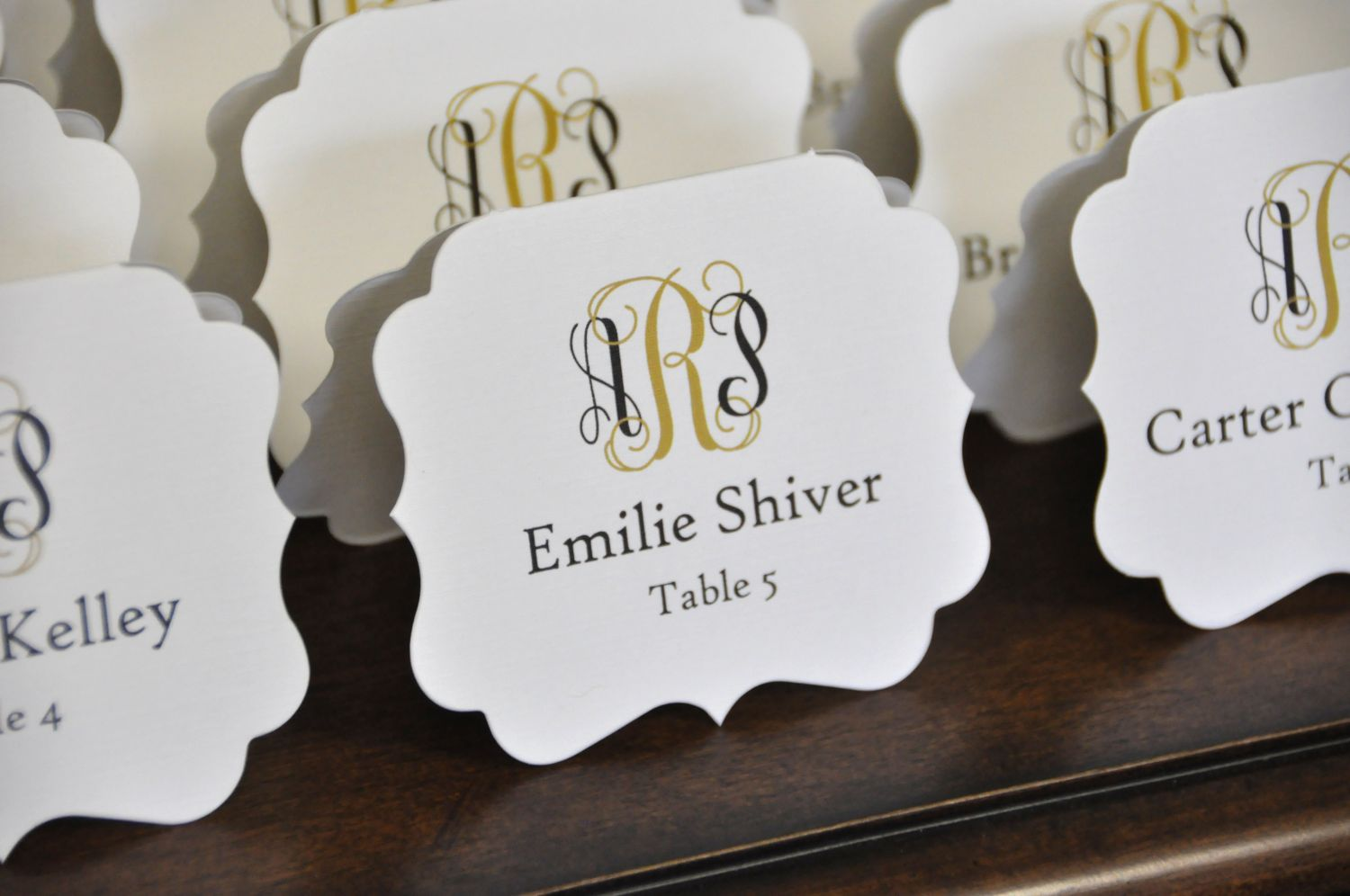 die cut place cards
