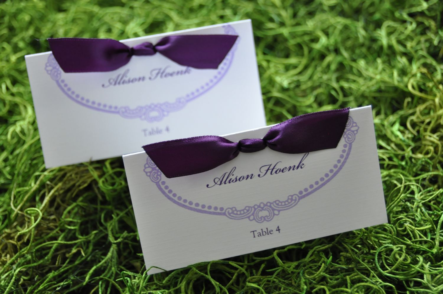 Rectangular Ribbon Place Cards