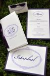 Lavender and Eggplant Wedding Stationery Set (items sold separately)