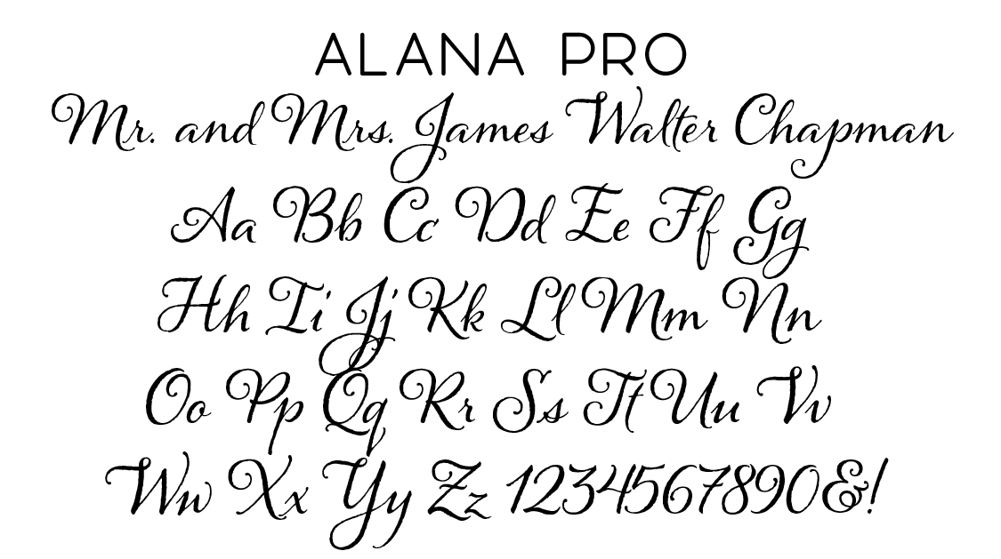 Alana Pro Script Font