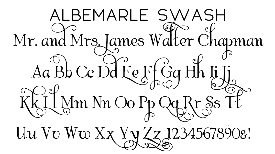 Albemarle Swash Script Font