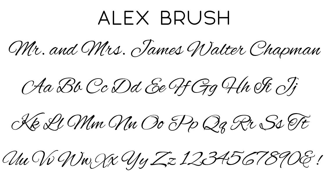 Alex Brush Script Font