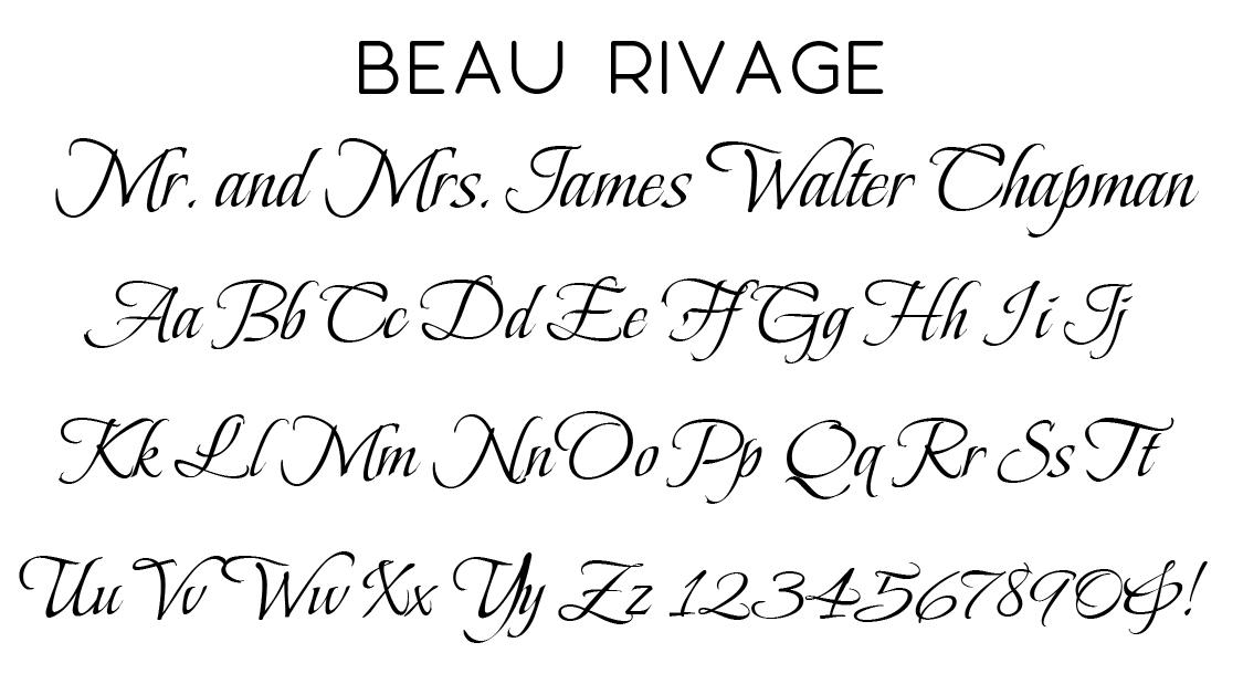 Beau Rivage Script Font