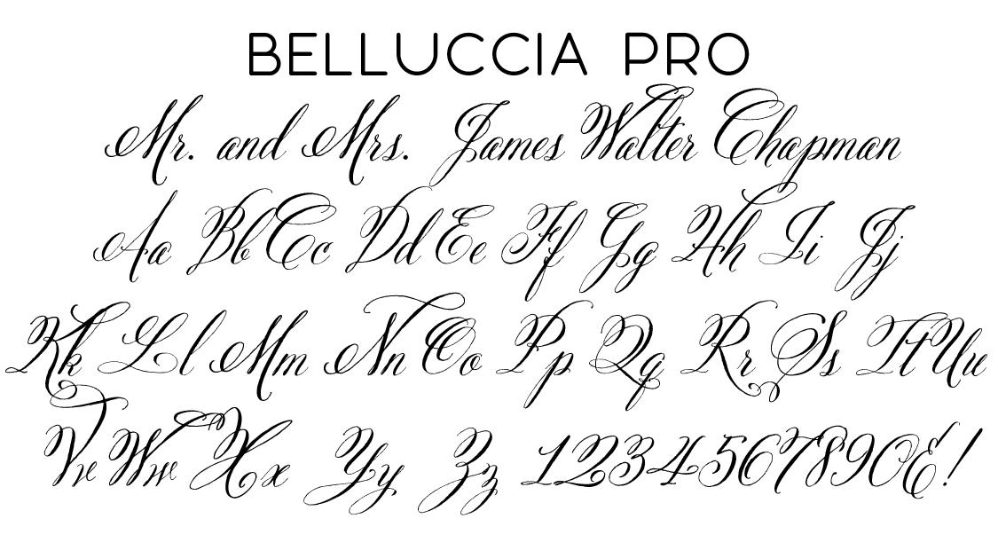 Belluccia Pro Script Font