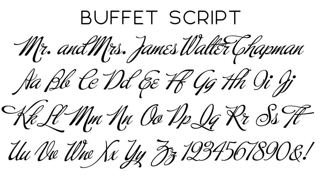 Buffet Script Font