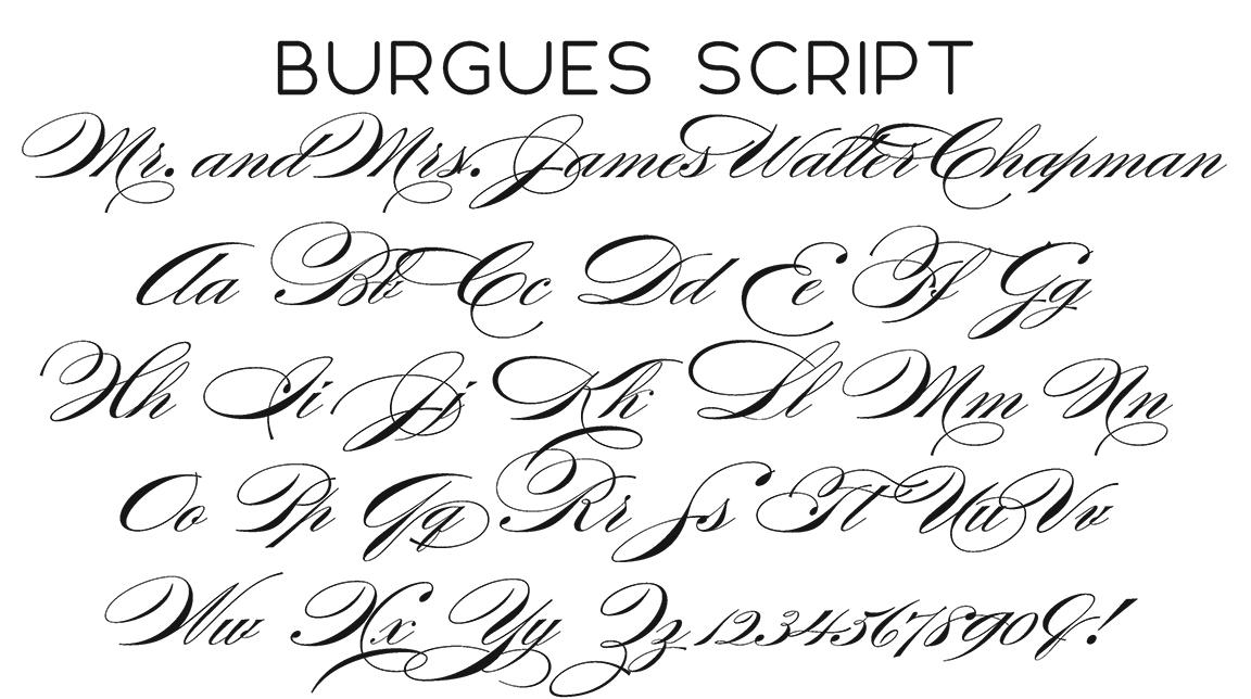 Burgeus Script Font