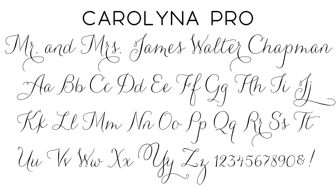 Carolyna Pro Script Font