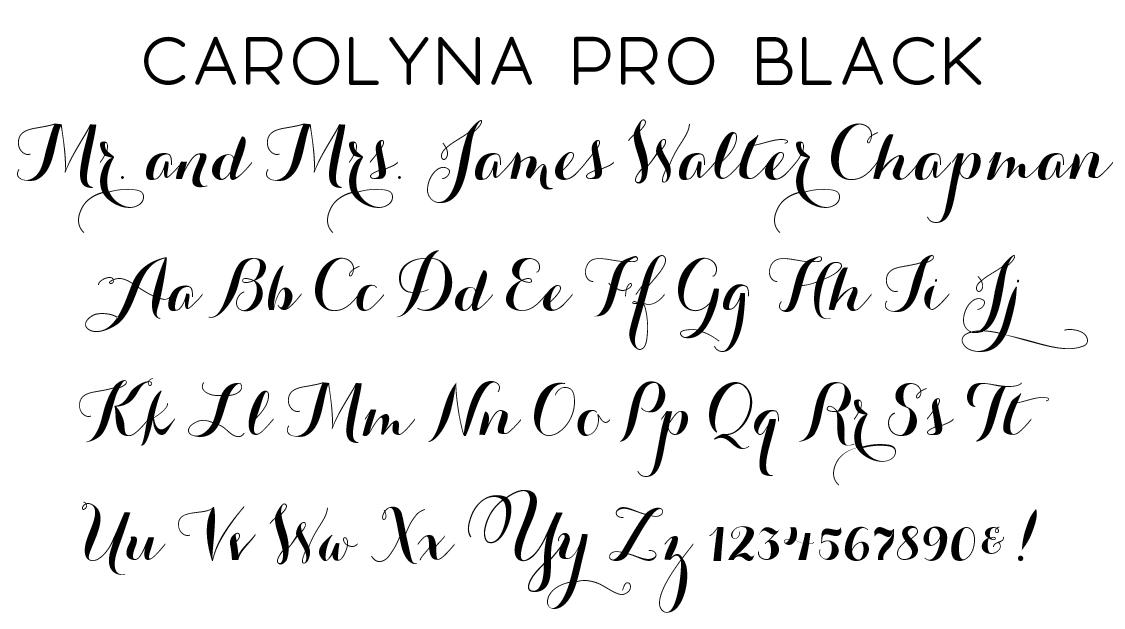 Carolyna Pro Black Script Font