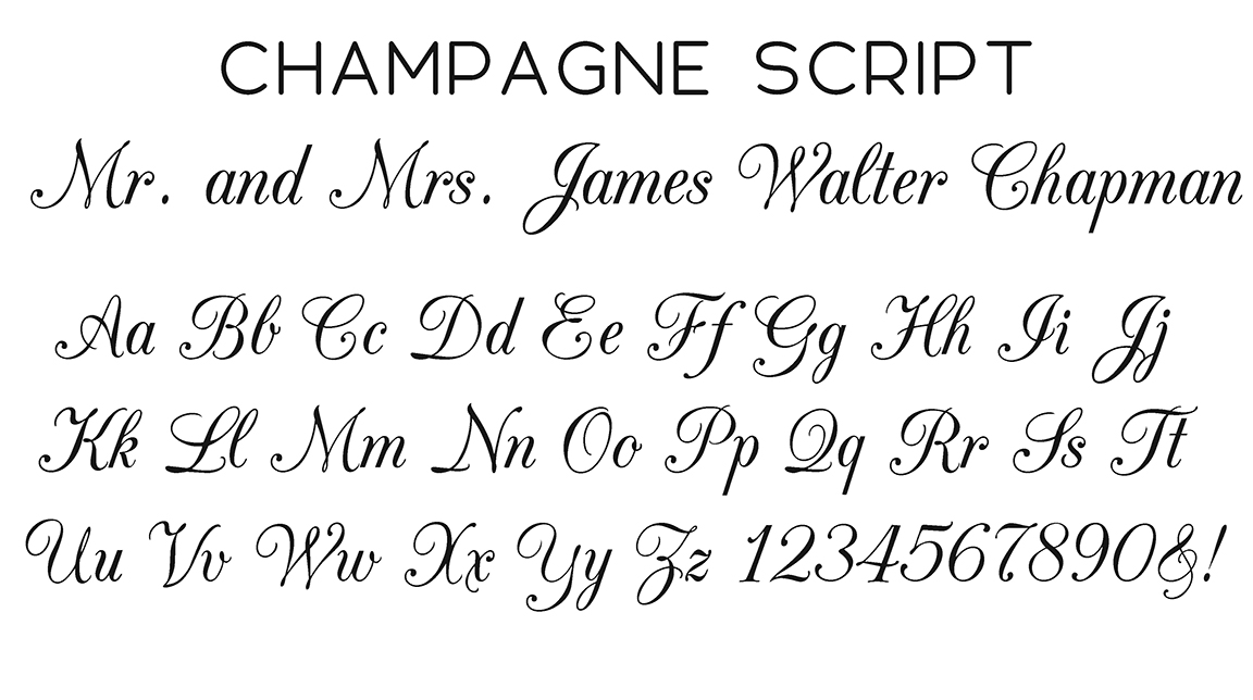 Champagne Script Font
