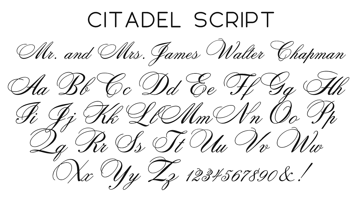 Citadel Script Font