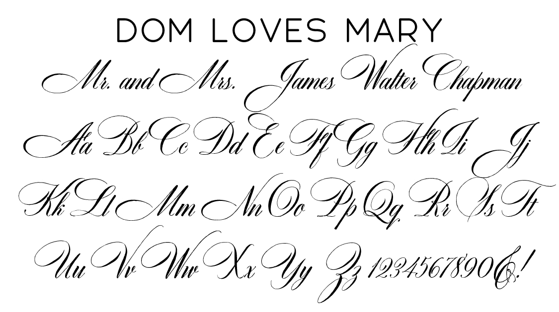 Dom Loves Mary Script Font