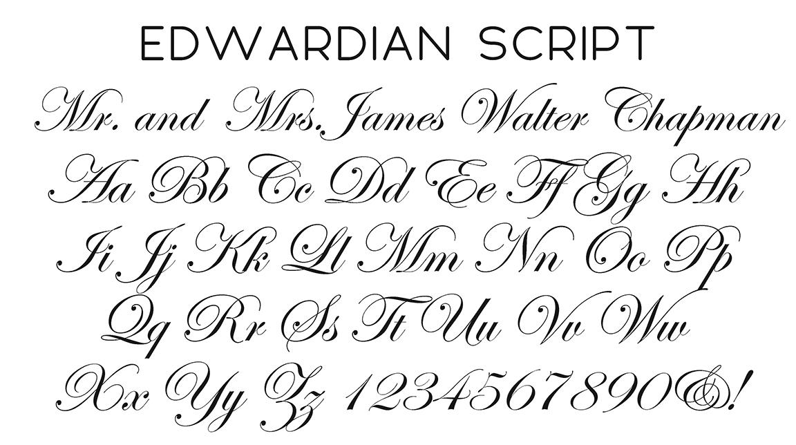 Image Gallery edwardian script