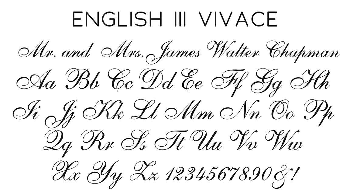 English III Vivace Script