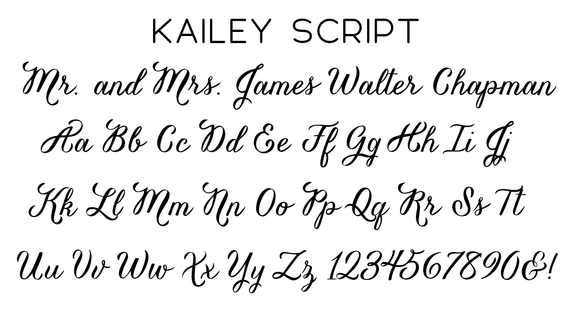 Kailey Script Font