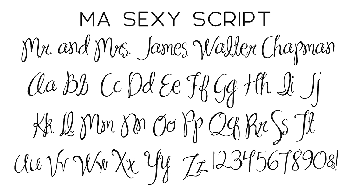 MA Sexy Script Font