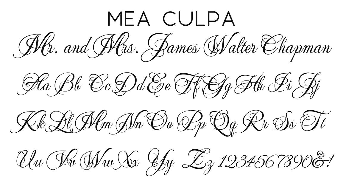 Mea Culpa Script Font