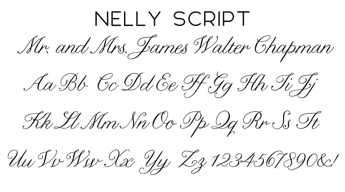 Nelly Script Font
