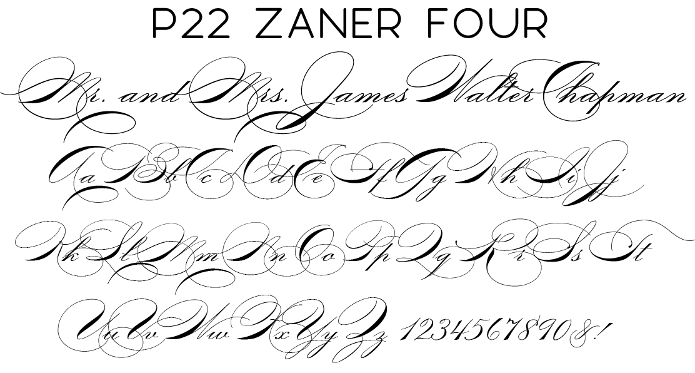 P22 Zaner Four Script Font