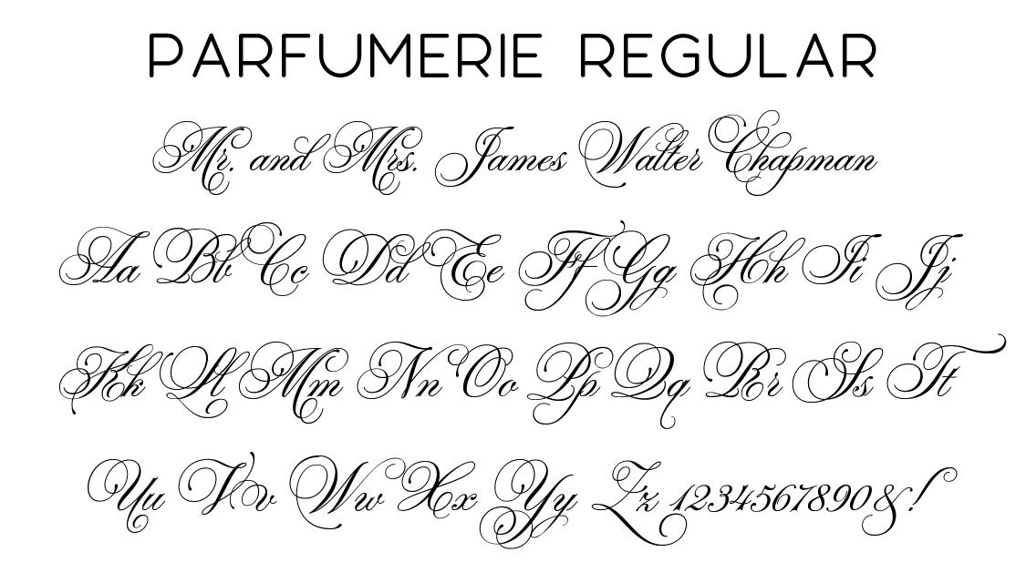 Parfumeria Script Font