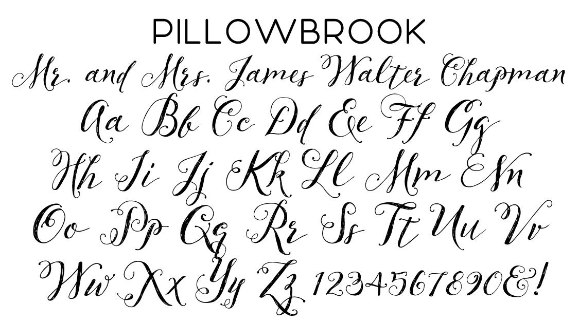 Pillowbrook Script Font