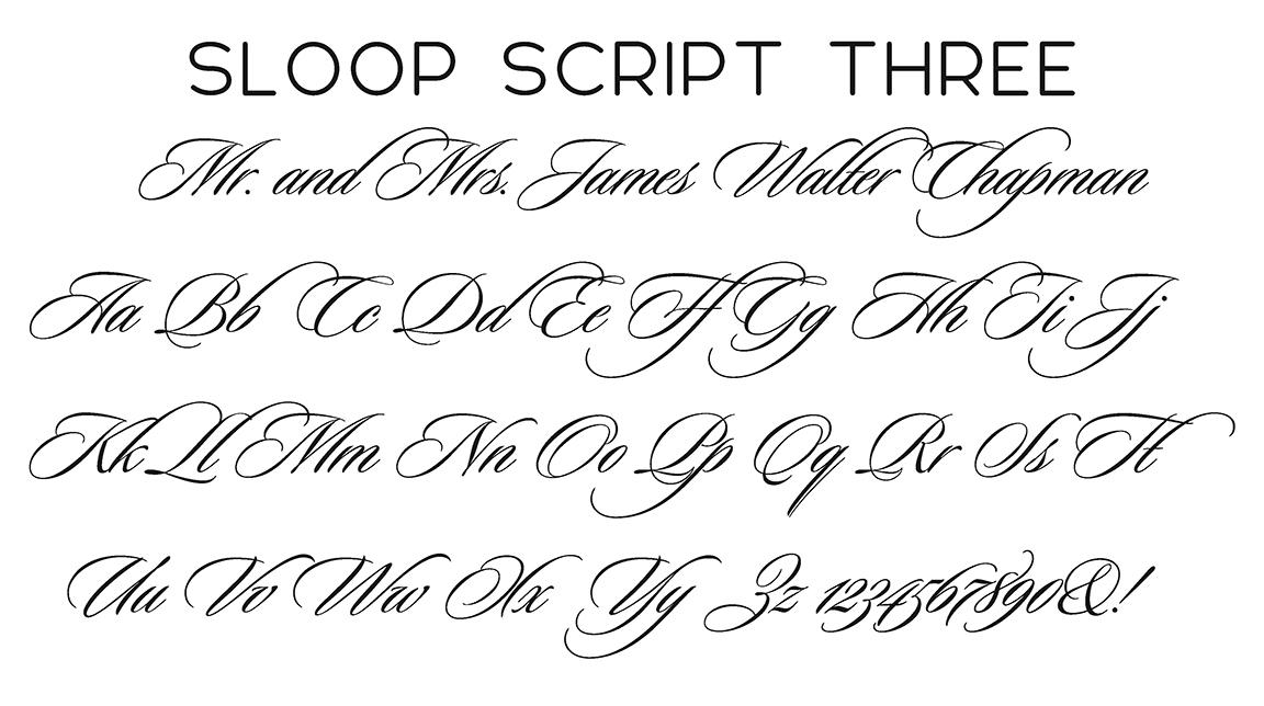 Sloop Script Three Font