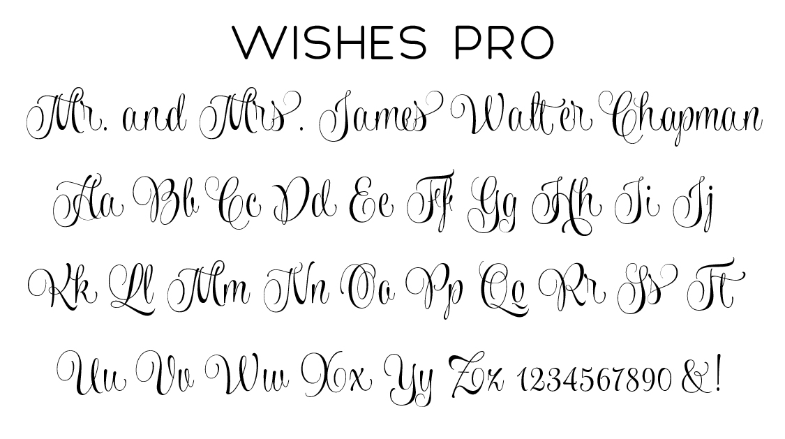 Wishes Pro Script Font